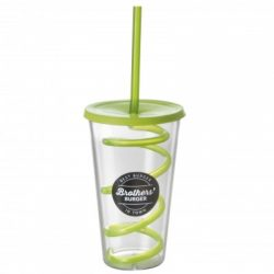 Cup with Spiral Straw